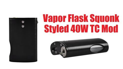 vapor flask squonk styled 40w tc box mod