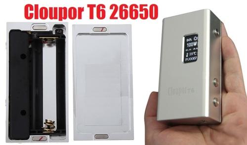 cloupor t6 26650 box mod