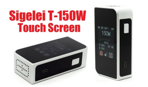 sigelei t150w touch screen box mod