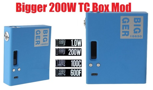 vapecige bigger 200w tc box mod