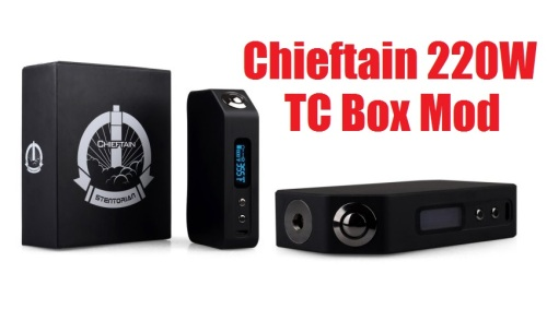wotofo chieftain 220w tc box mod