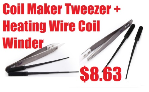 Coil Maker Tweezer + Heating Wire Coil Winder