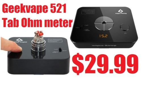 Geekvape 521 Tab Ohm meter