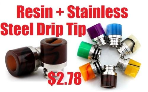 resin stainless steel drip tip