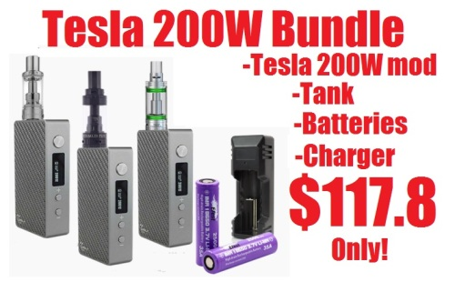 tesla 200w tc bundle deal direct vapor