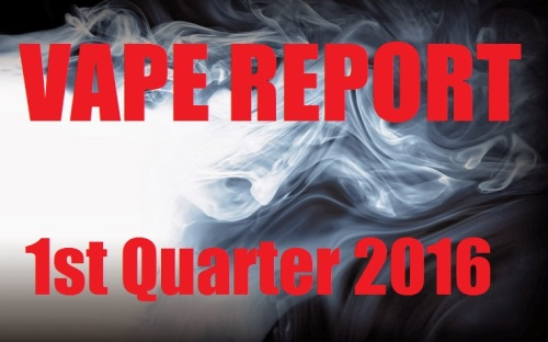 vape report 1st quarter 2016