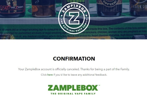 zamplebox cancellation