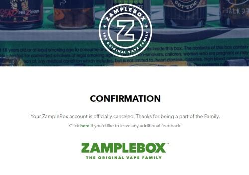 zamplebox cancellation