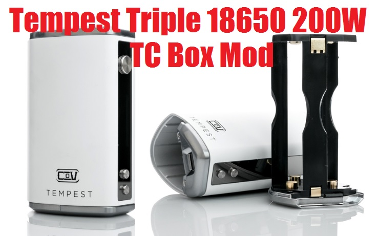 The Council of Vapor Tempest Triple 18650 200W TC Box Mod
