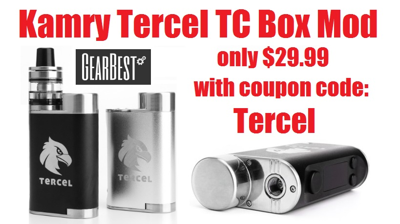 The Kamry Tercel is an affordable TC stealth mod that goes up to 70 watts.